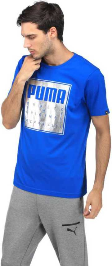 9fbf37e8c4e6 Puma Sports Men Round Neck Blue T-Shirt - Buy Puma Sports Men Round Neck  Blue T-Shirt Online at Best Prices in India