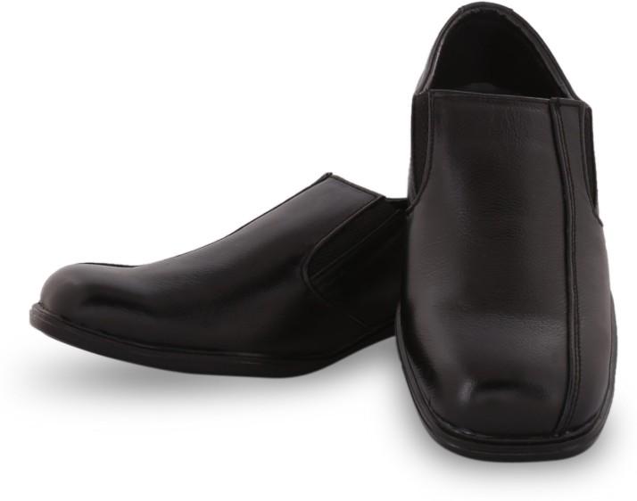 Black Leather Formal Shoes , UK 6