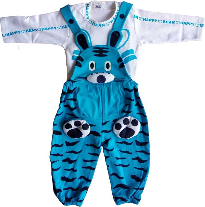 7670bf0398 Victoria Kids Wear Dungaree For Boys Casual Printed Cotton Blend
