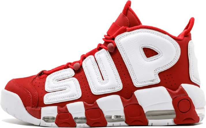 ff24512aa8b3 Air More Uptempo Supreme Running Shoes For Men - Buy Red