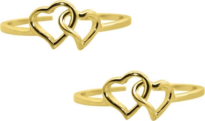 925 Sterling Silver Adjustable Heart Design Toe Ring