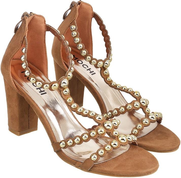 Mochi Women Tan Heels - Buy Mochi Women