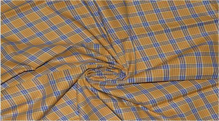 Raymond Giza Cotton Checkered, Printed Shirt Fabric Price in