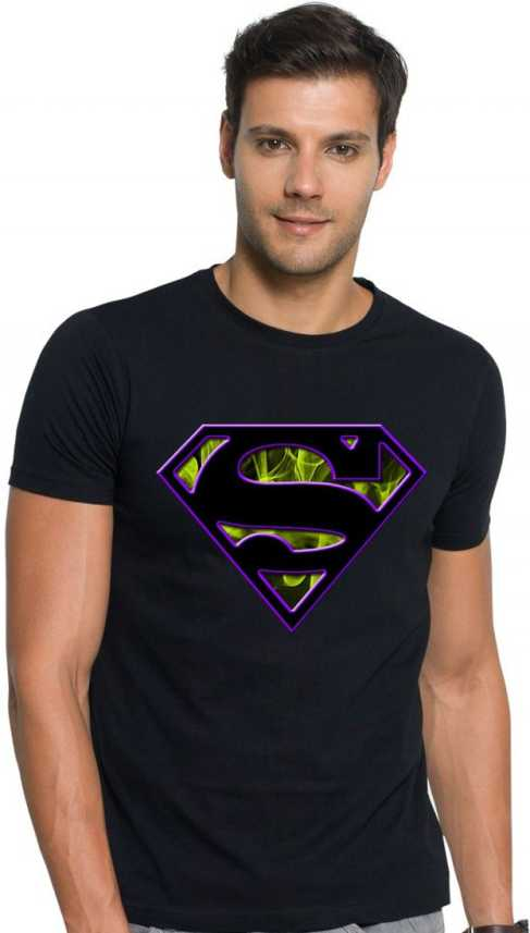 90423c14064 Oll in one destination Superhero Men Round Neck Black T-Shirt - Buy Oll in  one destination Superhero Men Round Neck Black T-Shirt Online at Best  Prices in ...