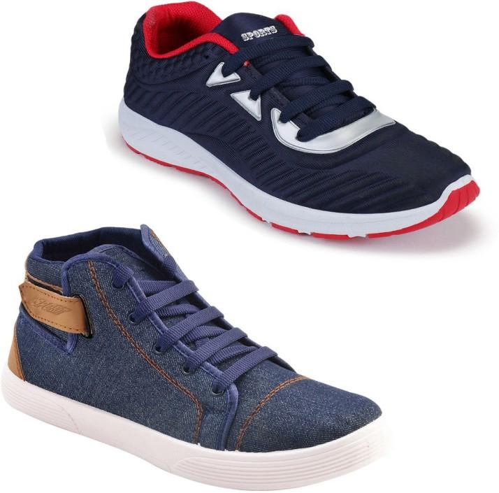 Earton Men Sports Shoes Combo Running