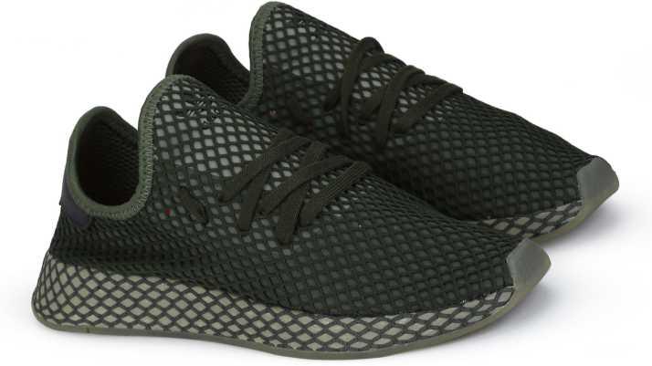 low priced a4b29 b4e21 ADIDAS ORIGINALS DEERUPT RUNNER Sneakers For Men (Green)