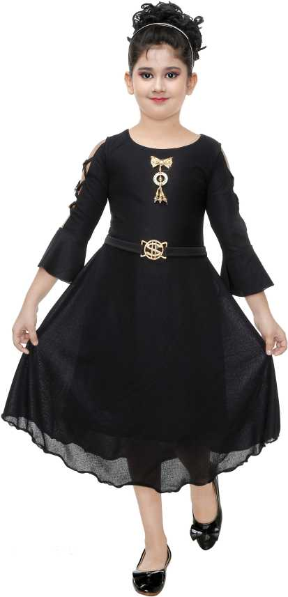 25633d3cb92 FTC FASHIONS Girls Midi/Knee Length Party Dress Price in India - Buy FTC  FASHIONS Girls Midi/Knee Length Party Dress online at Flipkart.com