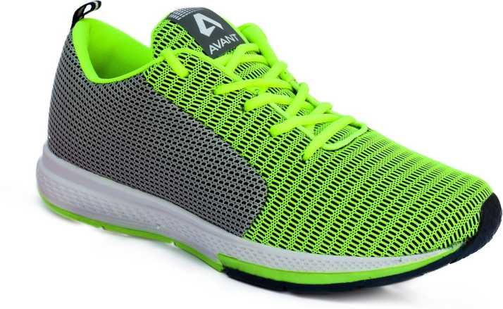 Avant Cushioned Athletic Running Shoes For Men - Buy green grey ... 254891390004