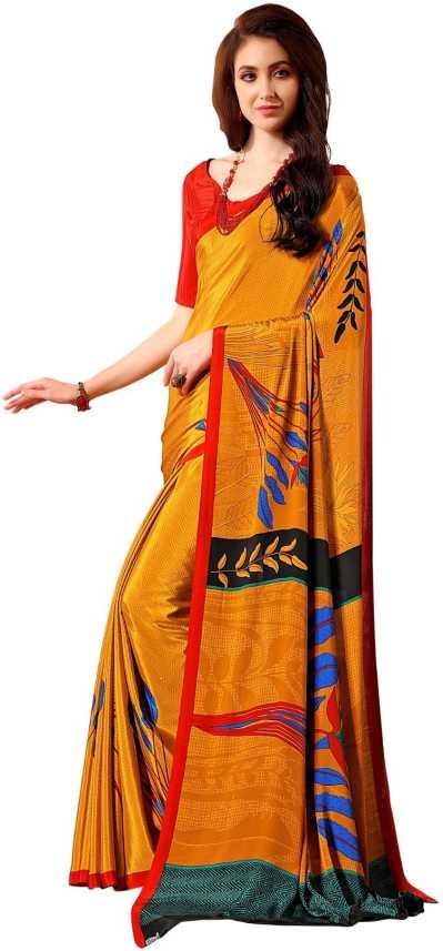 e2c8271eaee9 Buy Jaanvi Fashion Digital Print Bollywood Poly Crepe