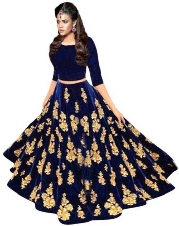 e018ed5f5d Smart Fashion Embroidered Semi Stitched Lehenga & Crop Top - Buy Smart  Fashion Embroidered Semi Stitched Lehenga & Crop Top Online at Best Prices  in India ...