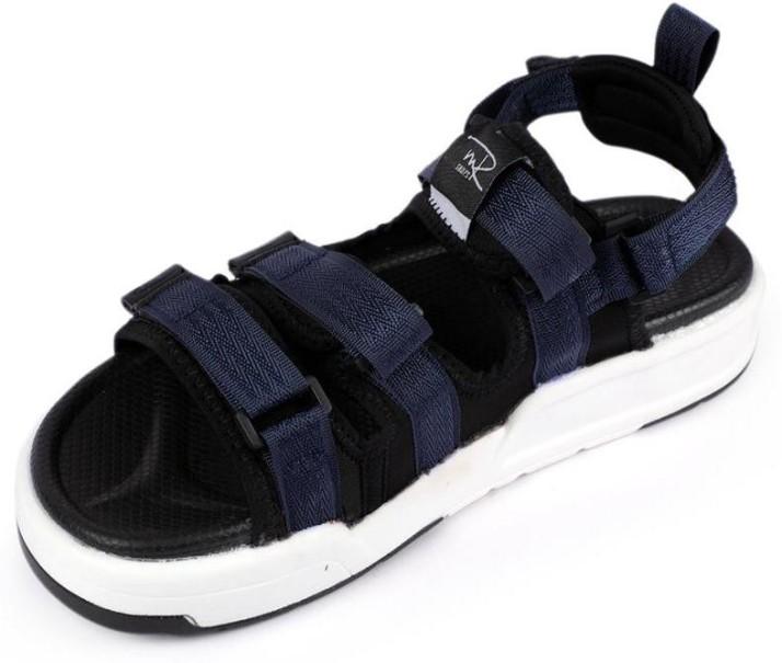 Mr.shoes Men Navy, Black Sports Sandals
