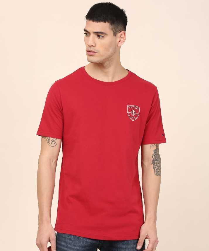 938bde5fb Tommy Hilfiger Solid Men Round Neck Red T-Shirt - Buy Tommy Hilfiger ...
