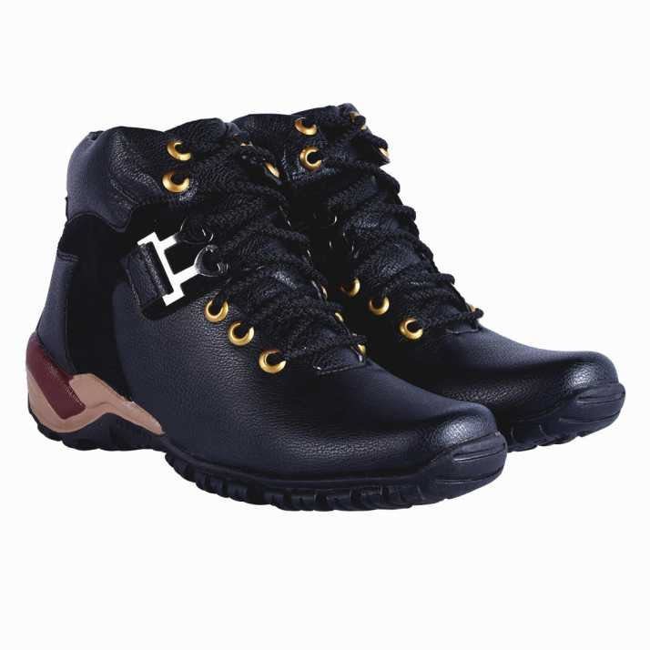 3cb4ece0dc00 DLS black casual party wear boots shoes for men s Boots For Men (Black)
