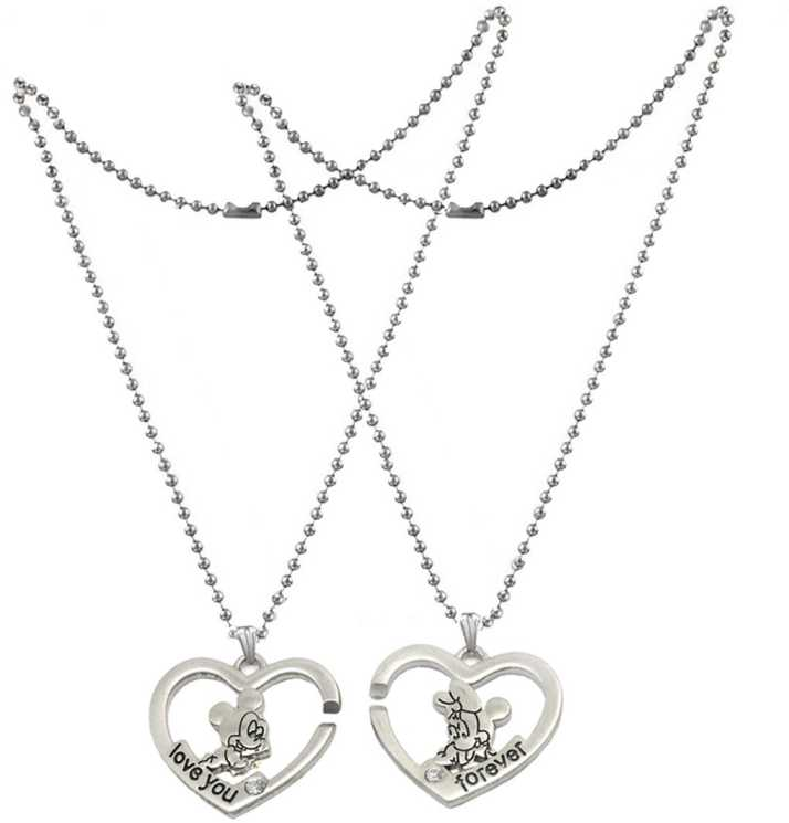 0b8b5c81a9 Men Style 2 pcs His and Hers I Love You Broken Heart Best Friend Forever  Couple Locket For Lovers Jewelry Zinc, Alloy Pendant Set Price in India -  Buy Men ...