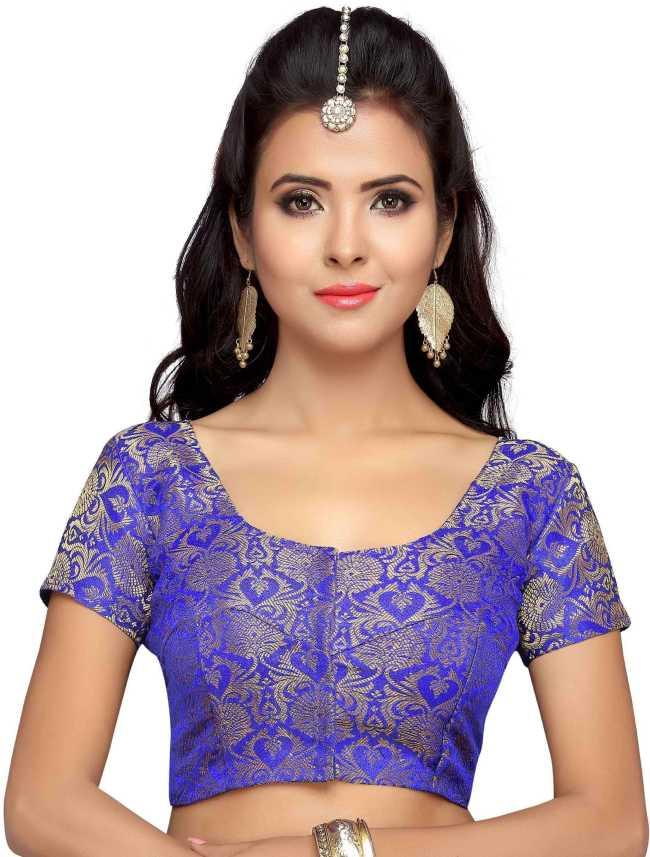 1e75594def Studio Shringaar Round Neck Women Blouse - Buy Studio Shringaar Round Neck  Women Blouse Online at Best Prices in India | Flipkart.com