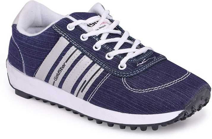 promo code 7dda2 f3fa3 Goldstar New Trendy Original Running Shoes For Men (Blue, White)