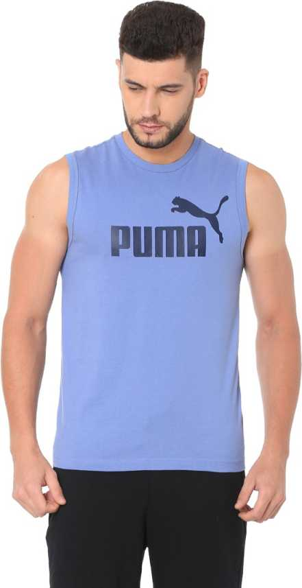a069cd7b298 Puma Solid Men Round Neck Blue T-Shirt - Buy Puma Solid Men Round Neck Blue T-Shirt  Online at Best Prices in India | Flipkart.com