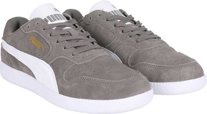 Puma Icra Trainer SD Steel Gray Puma White Canvas Shoes For Men