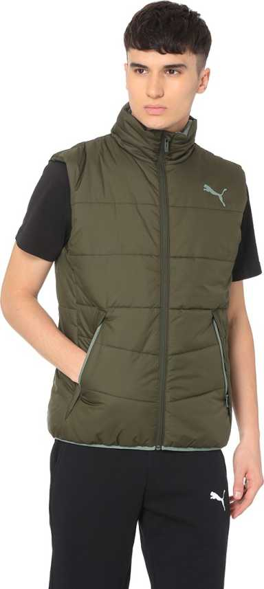 73c4ad5fa406 Puma Sleeveless Solid Men Jacket - Buy Forest Nght Puma Sleeveless Solid  Men Jacket Online at Best Prices in India