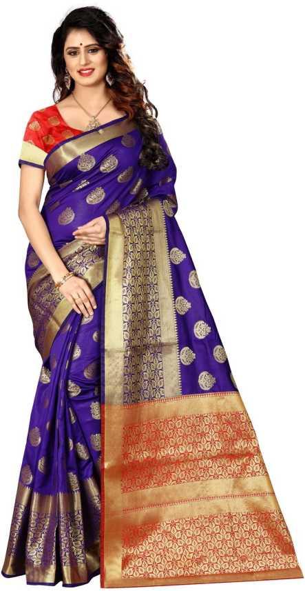 e92a48831901a2 Buy Shoppershopee Woven Paithani Banarasi Silk