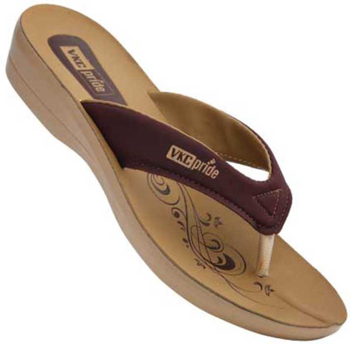 3bee31c5f0da VKC PRIDE Women Maroon Beige 102 Flats - Buy VKC PRIDE Women Maroon Beige  102 Flats Online at Best Price - Shop Online for Footwears in India