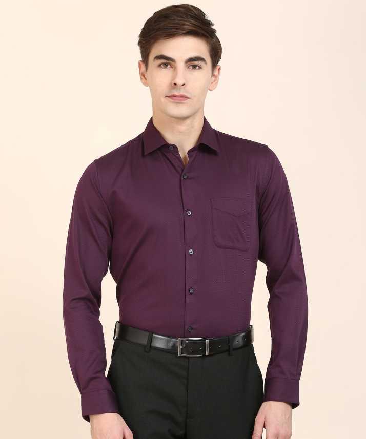 5b86ec9e6 Peter England Men Self Design Formal Purple Shirt - Buy Peter ...