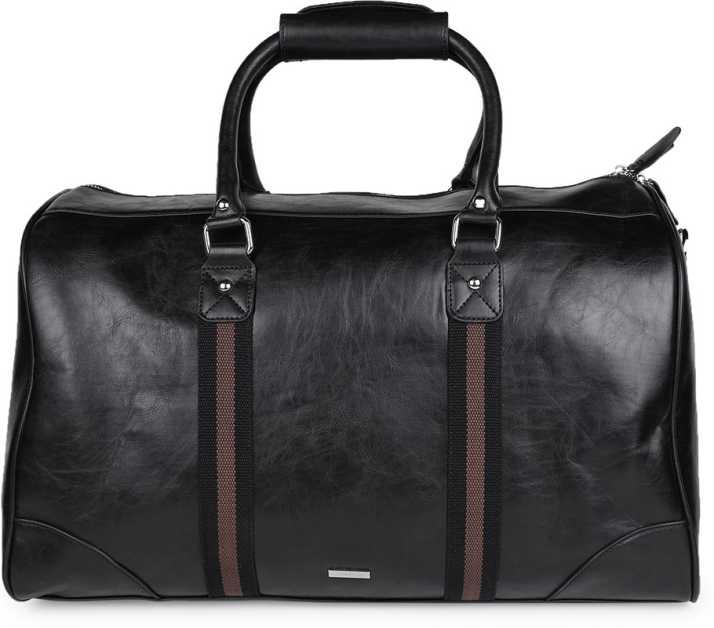 Aldo Men S Black Polyester Duffel Bag