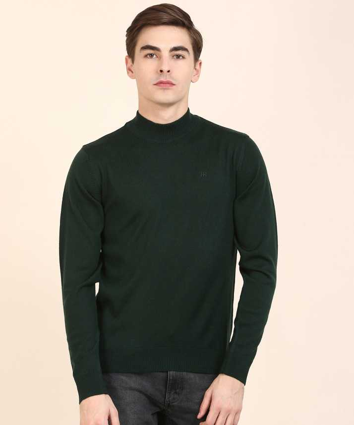 581f709427f17d Raymond Woven High Neck Casual Men's Green Sweater - Buy Raymond Woven High  Neck Casual Men's Green Sweater Online at Best Prices in India |  Flipkart.com