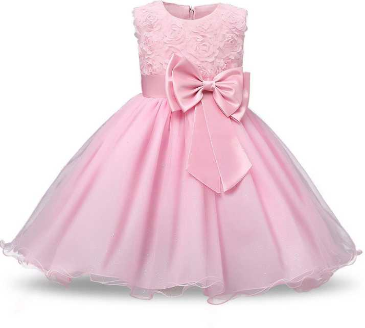 15a3b169bd1d1 Lucky Angel Girls Midi/Knee Length Party Dress Price in India - Buy ...