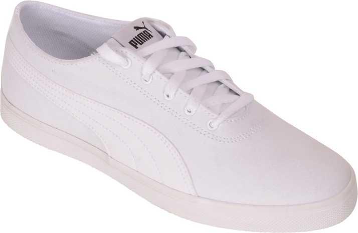 398b2f3bf6 Puma Puma Men White Canvas Sneakers Urban Slip On Sneakers For Men (White)
