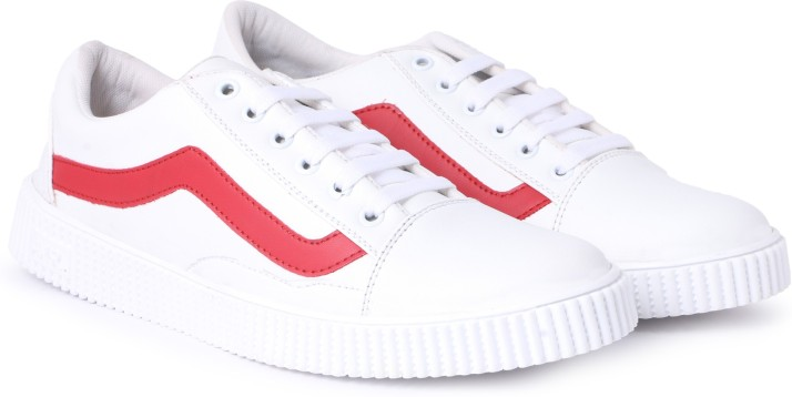 Sainex Mens White Casual Shoes Sneakers