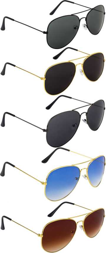 2591af5e92 Buy NuVew Aviator Sunglasses Multicolor For Men   Women Online   Best  Prices in India