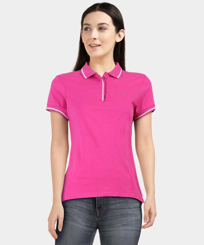 3766cc79 United Colors of Benetton Solid Women Polo Neck Pink T-Shirt - Buy United  Colors of Benetton Solid Women Polo Neck Pink T-Shirt Online at Best Prices  in ...