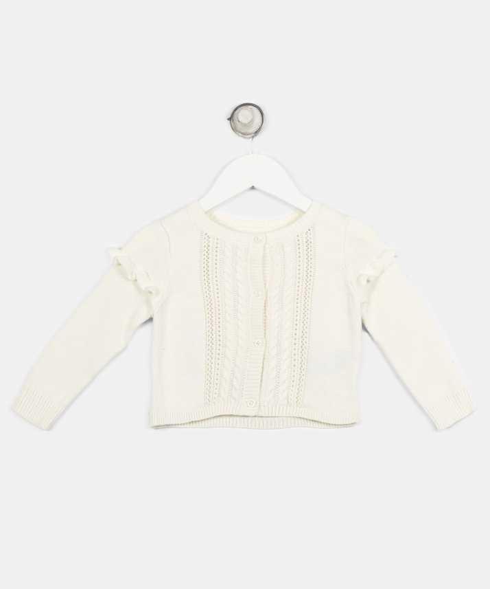 156f6118b GAP Woven Round Neck Casual Baby Girls White Sweater - Buy GAP Woven ...
