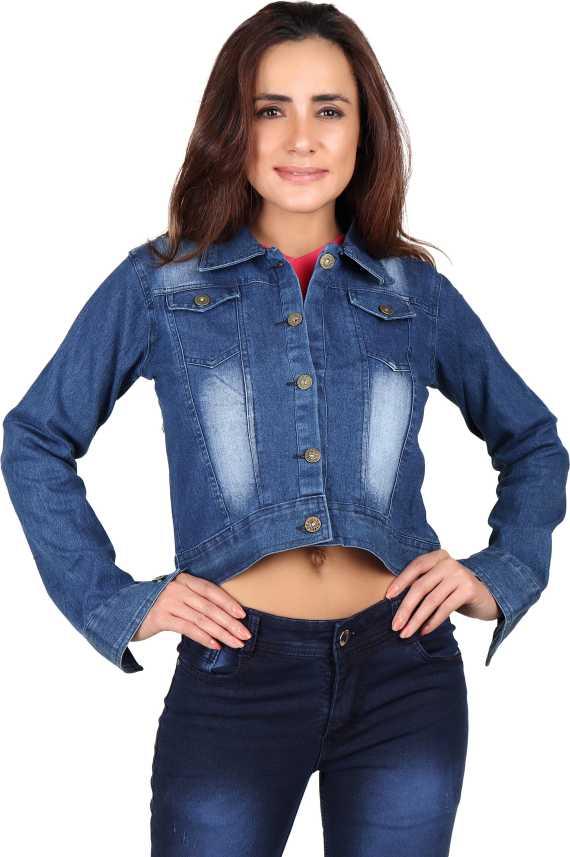 82550518b5 Runway Full Sleeve Solid Women Denim Jacket - Buy Runway Full Sleeve ...