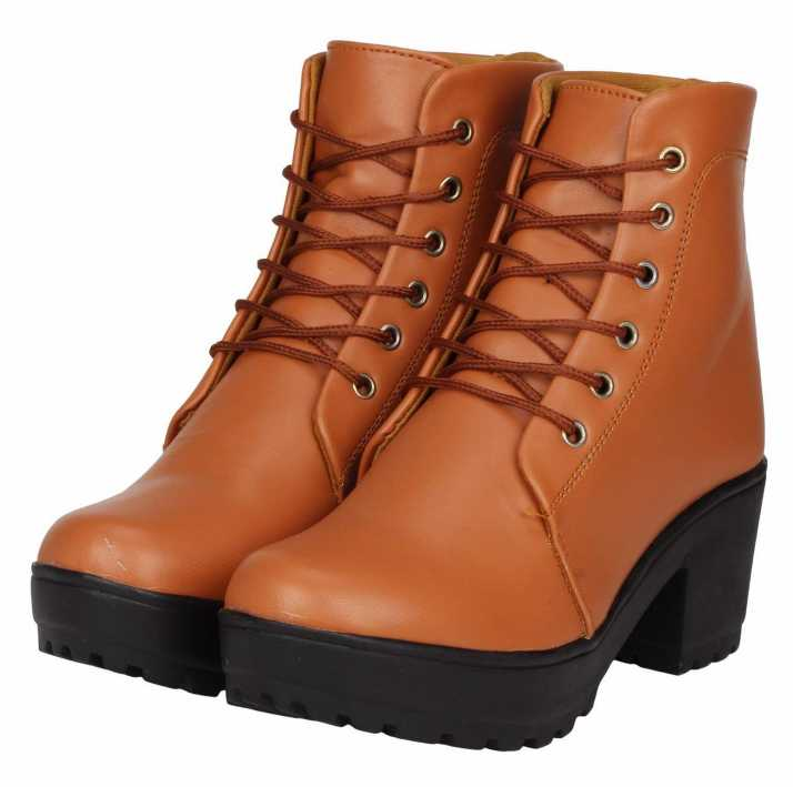 fe6963c86 Zapatoz Woman Comfortable Long Tan Shoe Boots For Women Boots For Women  (Tan)