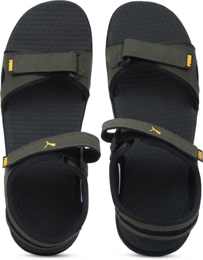 2d35c514d Puma Men Forest Night-Black-Sunflower Sports Sandals - Buy Puma Men Forest  Night-Black-Sunflower Sports Sandals Online at Best Price - Shop Online for  ...