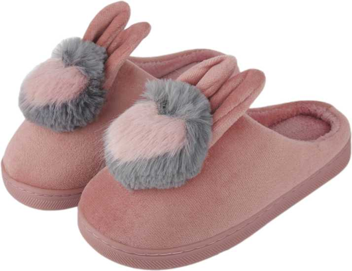 3cb8a14e1bf IRSOE Women Rabbit Velvet Anti-slip Soft Bottom Wool Slip-On Indoor    Outdoor Winter Slippers Peach Slides - Buy IRSOE Women Rabbit Velvet Anti-slip  Soft ...