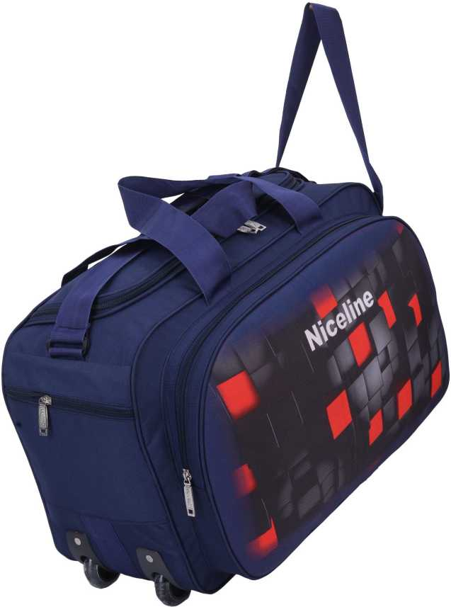 c270f0a295 Nice Line (Expandable) Lightweight Waterproof Luggage Travel Duffel Bags  with Roller wheels - Travel Duffel Bag (MULTI BLUE) Duffel Strolley Bag  (Blue)