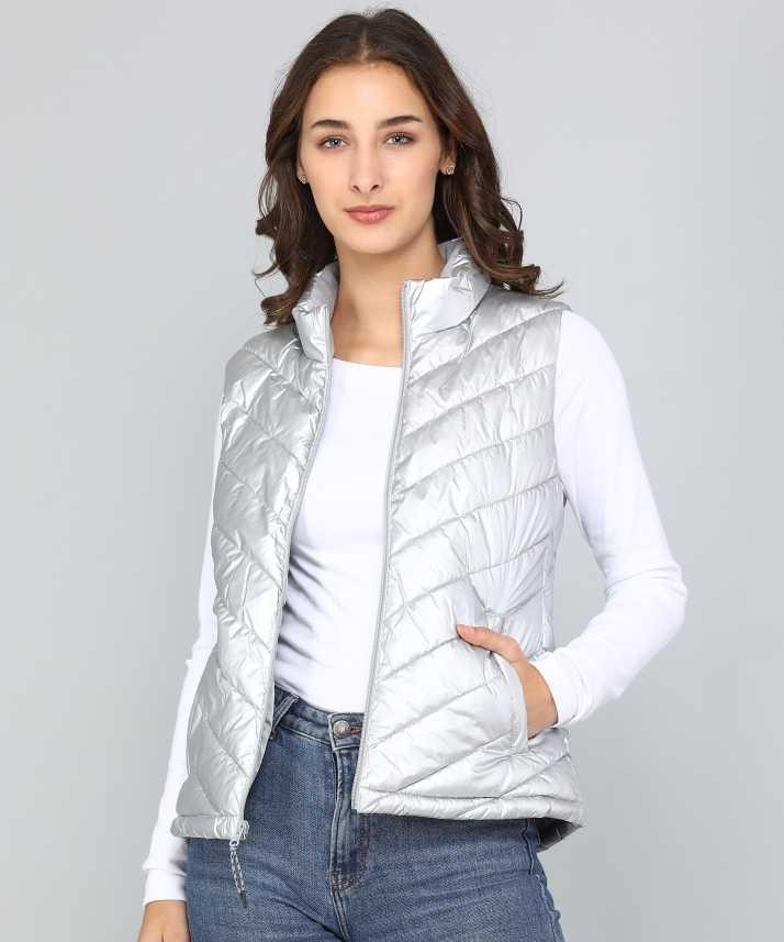 60bd567296c995 GAP Sleeveless Self Design Women Jacket - Buy GAP Sleeveless Self Design Women  Jacket Online at Best Prices in India