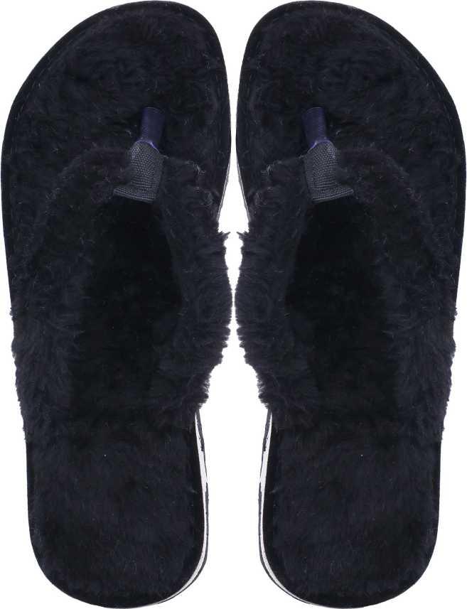 0ad851f68 Bhains Ki Ankh Women s Cozy Comfort Memory Foam Slide House Slippers Faux  Fur Plush Soft Non Slip Mule Flip Flops Flip Flops