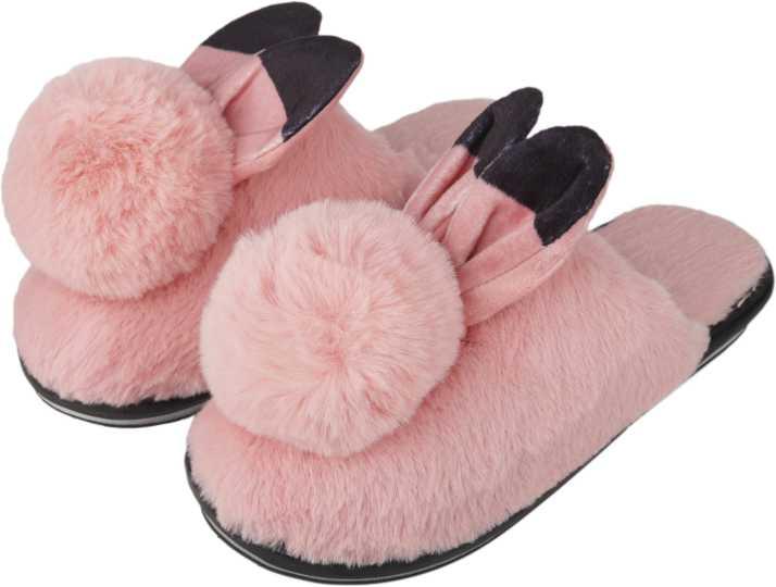 b0a9f97854b IRSOE Women and Girls Velvet Anti-Slip Soft Bottom Winter Rabbit Slippers  Wool Slip-On Indoor   Outdoor Fur Slippers - Pink Slippers - Buy IRSOE Women  and ...