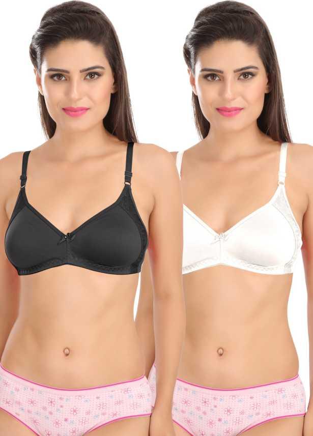 7330b7125c9 Sona SL-M1005-BLK-WHT-81C Women T-Shirt Non Padded Bra - Buy Sona SL ...