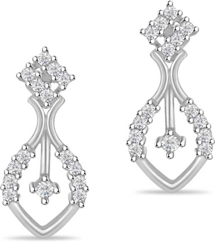 b39406c7b SilverDew 925 Sterling Silver Earring For Women's,Ladies New Earring, CZ  Diamond Occasion Wear For Girl's 14kt White Rhodium Plated Silver Stud  Earring