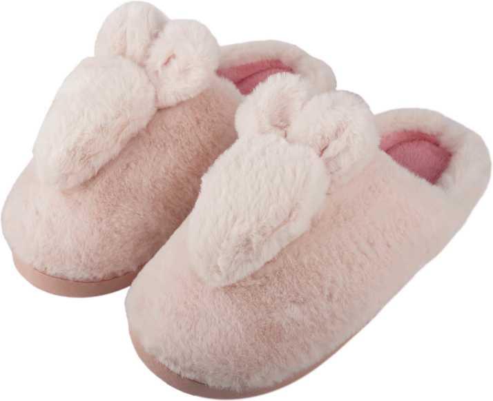 b82881173a IRSOE Women and Girls Velvet Anti-Slip Soft Bottom Winter Rabbit Slippers  Wool Slip-On Indoor   Outdoor Fur Slippers - Pink Slippers - Buy IRSOE  Women and ...