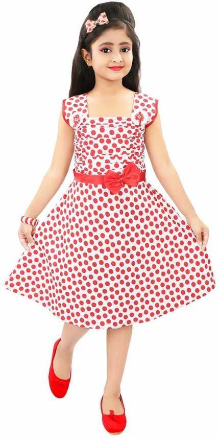 7f9a52485317 ADITI FAB Girls Midi/Knee Length Casual Dress (White, Sleeveless). Special  price