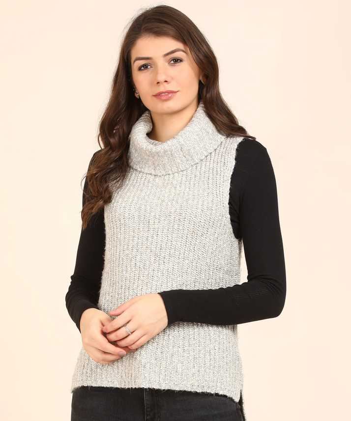 12bfa0296b8 Aeropostale Self Design Turtle Neck Casual Women Grey Sweater - Buy  Aeropostale Self Design Turtle Neck Casual Women Grey Sweater Online at Best  Prices in ...