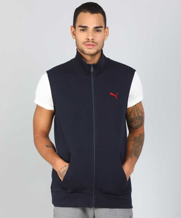 bd36ae4f3ee7c Puma Sleeveless Solid Men s Sweatshirt - Buy Puma Sleeveless Solid Men s Sweatshirt  Online at Best Prices in India