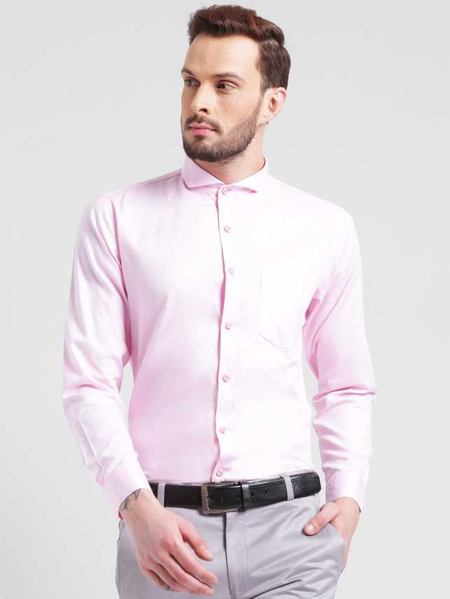 a5e3647ab4 FabTag - Being Fab Men s Solid Formal Pink Shirt - Buy Pink FabTag ...