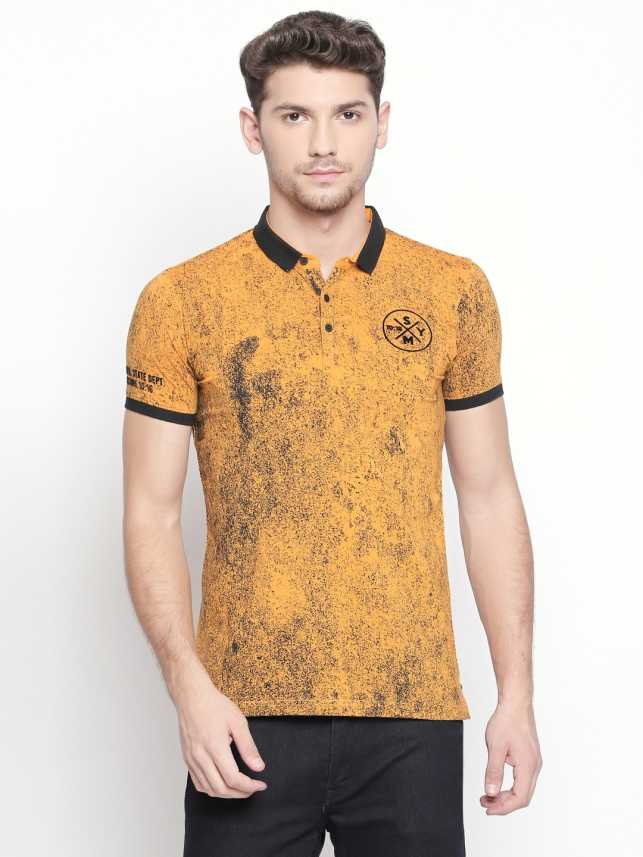 1be3828f74ff Zido Printed Men's Polo Neck Yellow T-Shirt - Buy Zido Printed Men's Polo  Neck Yellow T-Shirt Online at Best Prices in India | Flipkart.com